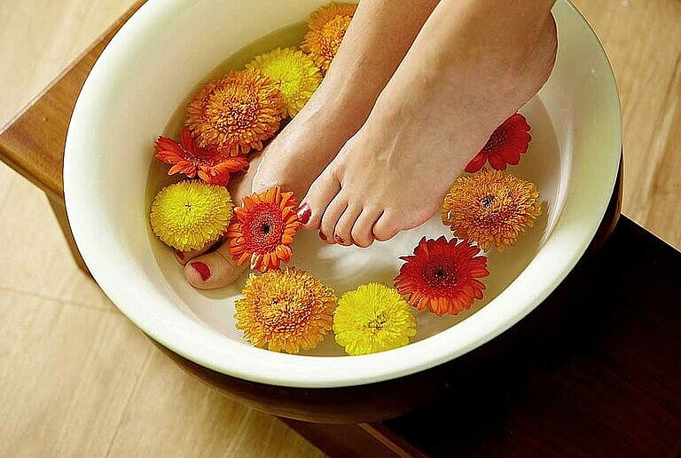 Ayurveda footbath at centrovital