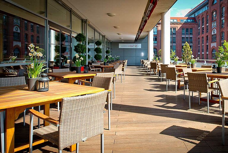 Terrace of Restaurant at centrovital Hotel Berlin